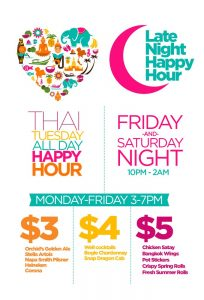 late night happy hour sacramento orchid thai