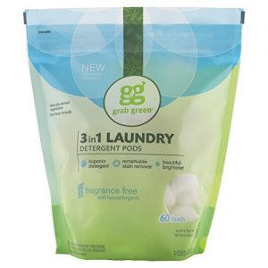 laundry detergent laundry pods grab green