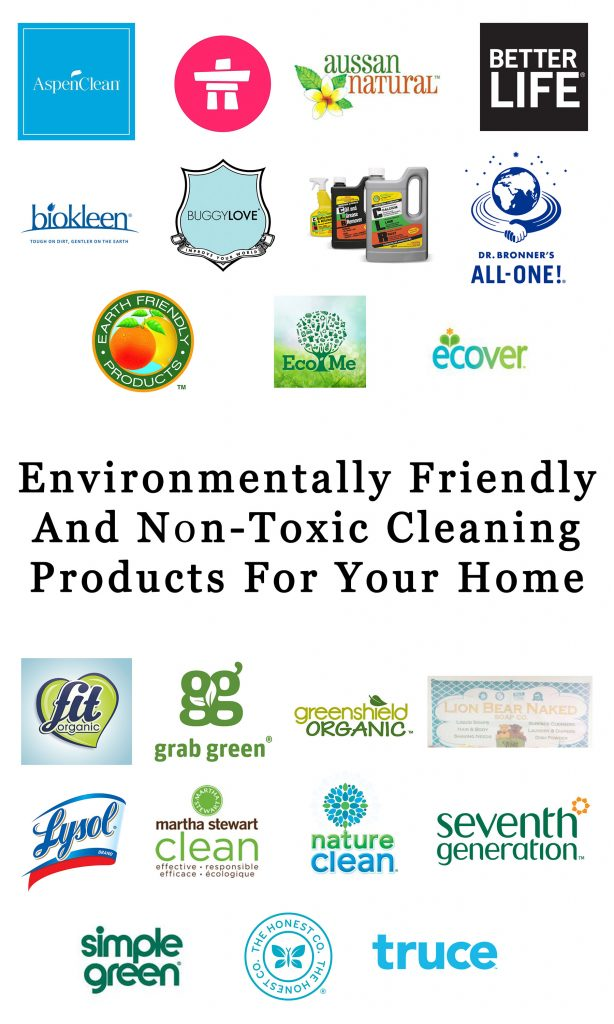 Environmentally Friendly and Non-Toxic Cleaning Products for Your Home 1 Ring in your New Years resolutions with this attainable action: Replace all the cleaning products in your home with environmentally friendly and non-toxic