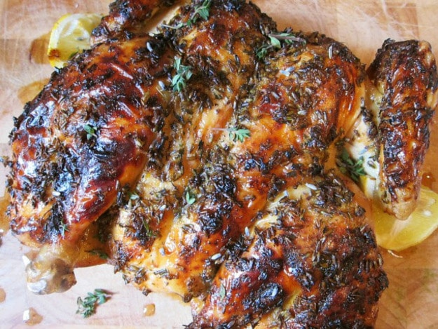 Lavender Lemon and Honey Spatchcocked Roast Chicken Recipe