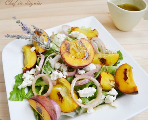 Peach and Feta Salad with Lavender Dressing Recipe