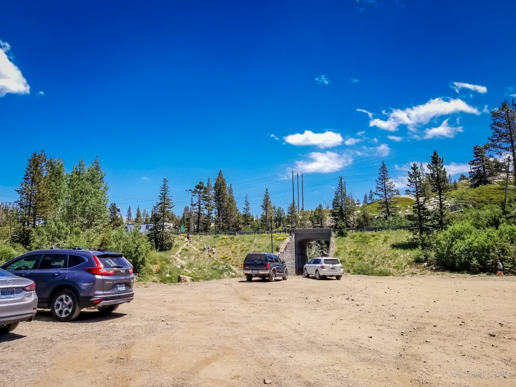 donner pass summit tunnel hike parking