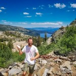 Donner Pass Summit Tunnel Hike 10 Atop the old Chinese Wall on the Donner Pass Summit Tunnel Hike, I'm holding a Warrior II yoga pose. On the other side of the wall, a ground squirrel watches me suspiciously. Donner Lake is abuzz with boats touring the lake beneath a gentle blue sky dotted with fluffy clouds. Having completed the first half of the hike, 3.69 miles from trail start to the end of the Chinese Wall, I'm about 7,000 feet up in elevation, and loving the views. This is such a great spot to relax and contemplate life before the return hike back to the truck.