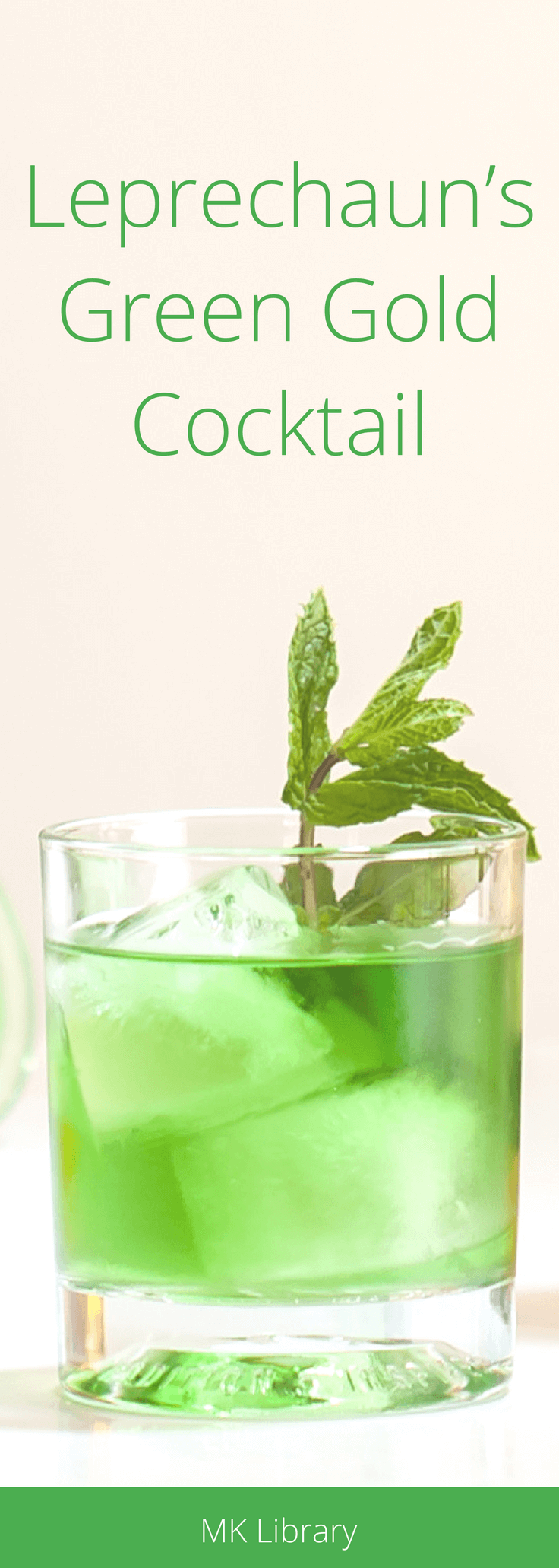 Leprechauns Green Gold Cocktail Recipe Pinterest