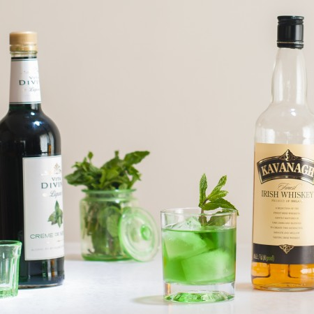 Leprechauns Green Gold Irish Whiskey Cocktail