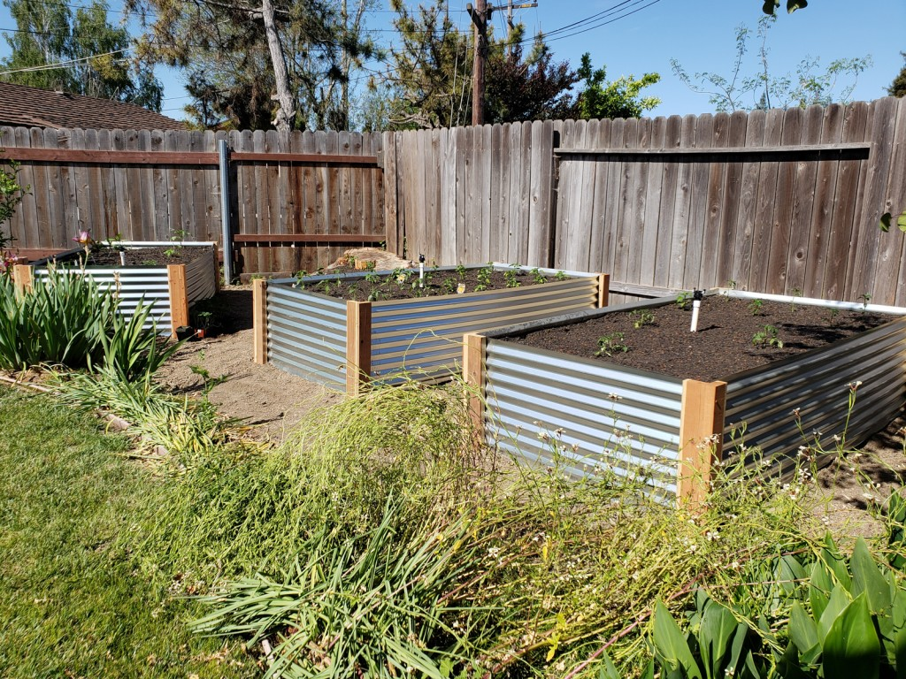 The Final DIY Corrugated Metal Raised Beds below