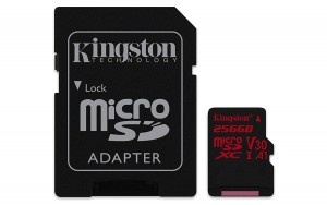 Kingston Canvas React 256GB microSDHC -  SDCR:256GB