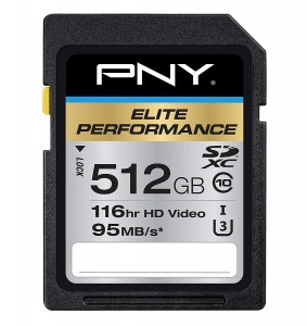 PNY Elite Performance 512GB SDXC P-SDX512U3H-GE