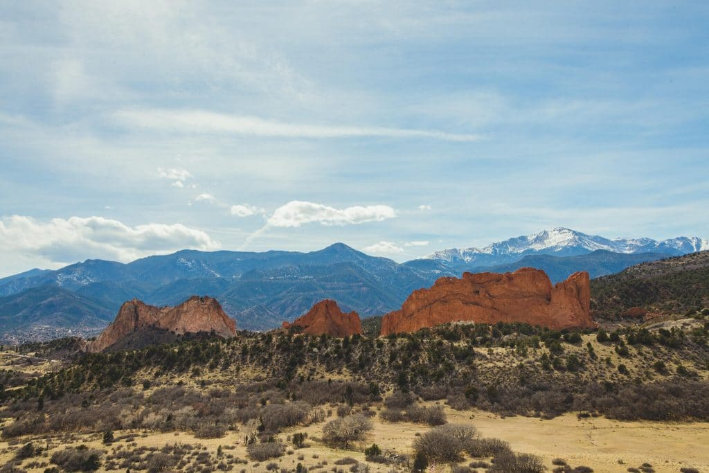 Garden of the Gods Pike Peaks Scenic View