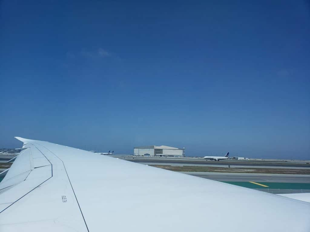 Sfo on fligboarding and taxiing down the runwayht leaving to italy