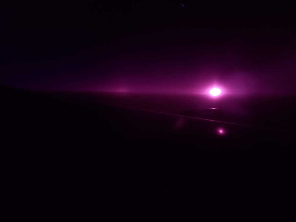 sunrise at 35000 feet