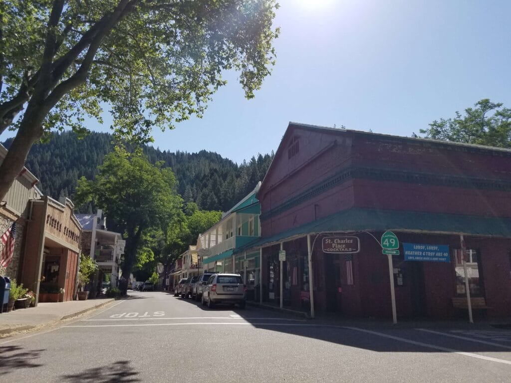 Downieville California highway 49