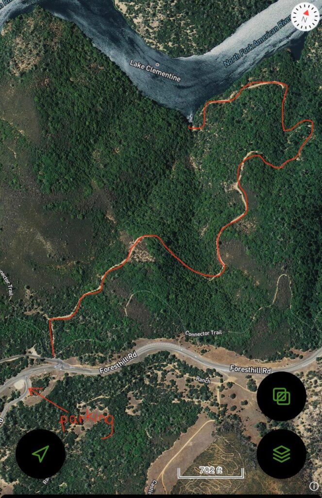 Lake Clementine Access Trail Satellite View