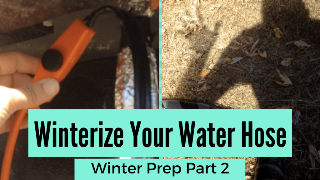 Winterizing your tiny house water hose