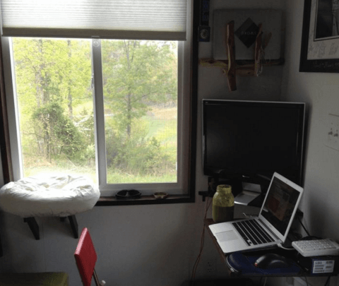 DIY office for tiny house