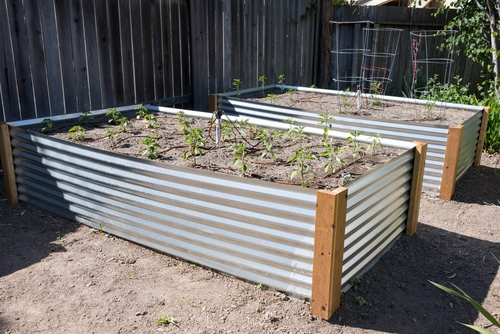 How to build a raised metal garden bed