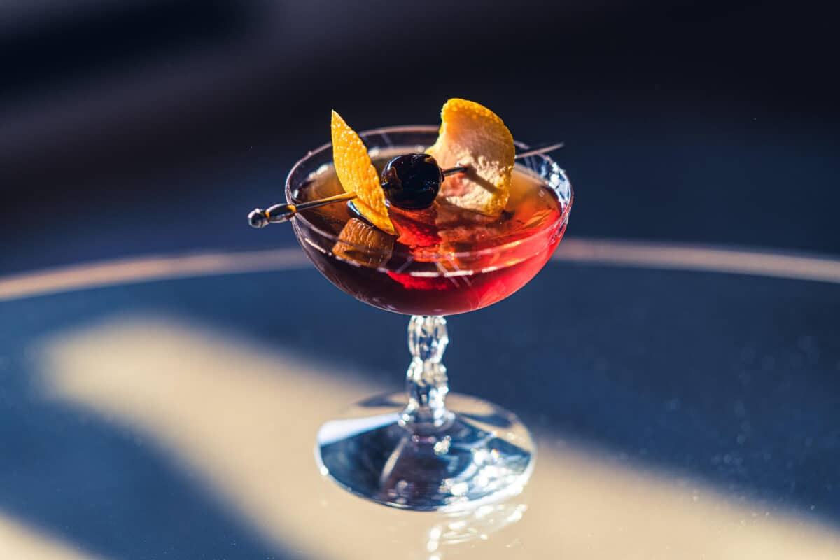 Midnight manhattan cocktail recipe
