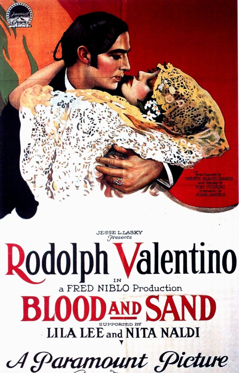 Blood and sand film by rudolph valentino