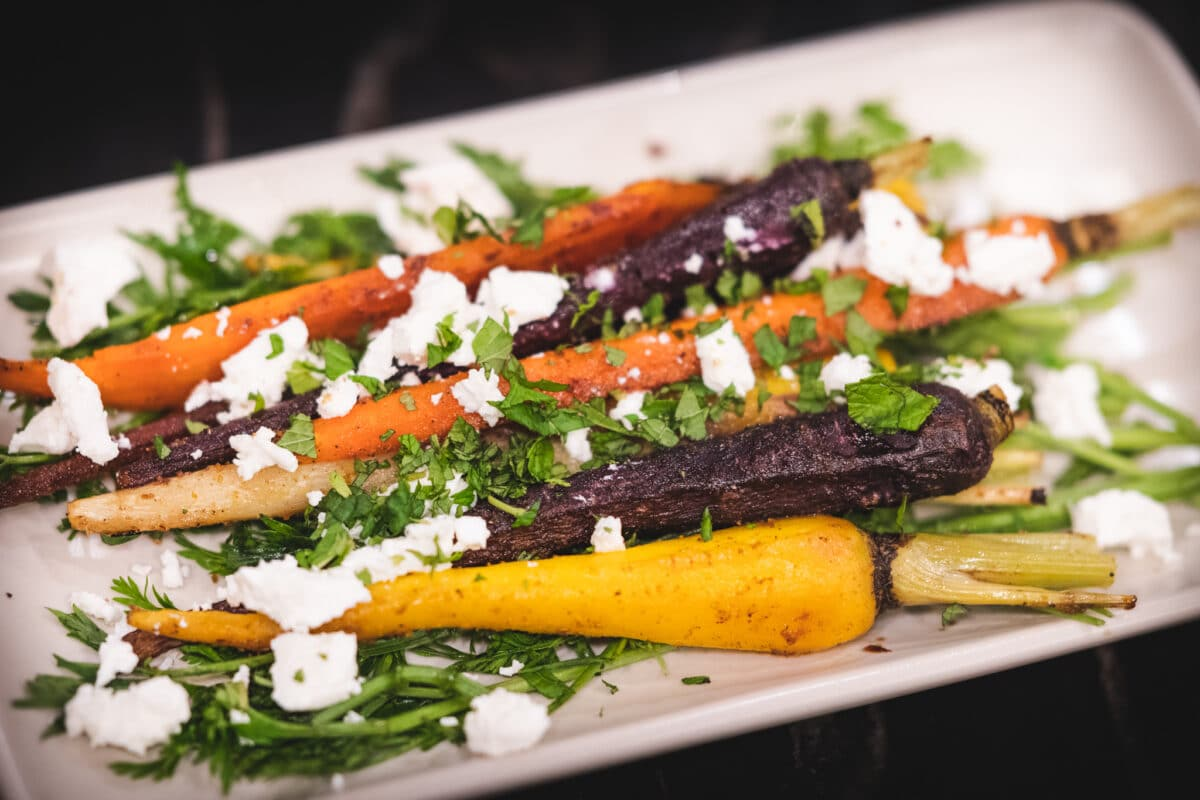 Roasted moroccan carrots 6 these roasted moroccan carrots match their intensity in color with vibrant flavors. Using common moroccan spices, including cinnamon, cumin, ginger, and coriander, this dish will pair nicely with your main entrée in typical mediterranean fashion.