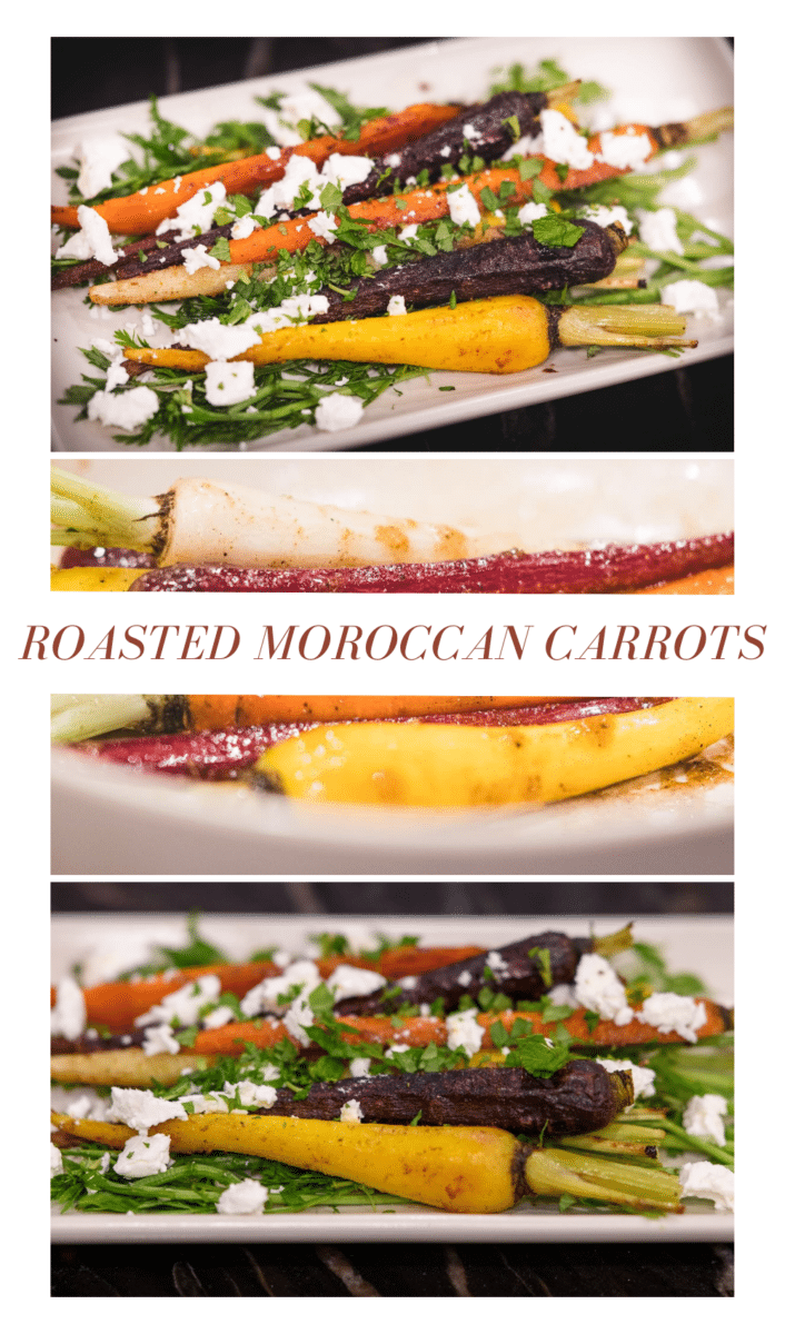 Roasted moroccan carrots 5 these roasted moroccan carrots match their intensity in color with vibrant flavors. Using common moroccan spices, including cinnamon, cumin, ginger, and coriander, this dish will pair nicely with your main entrée in typical mediterranean fashion.