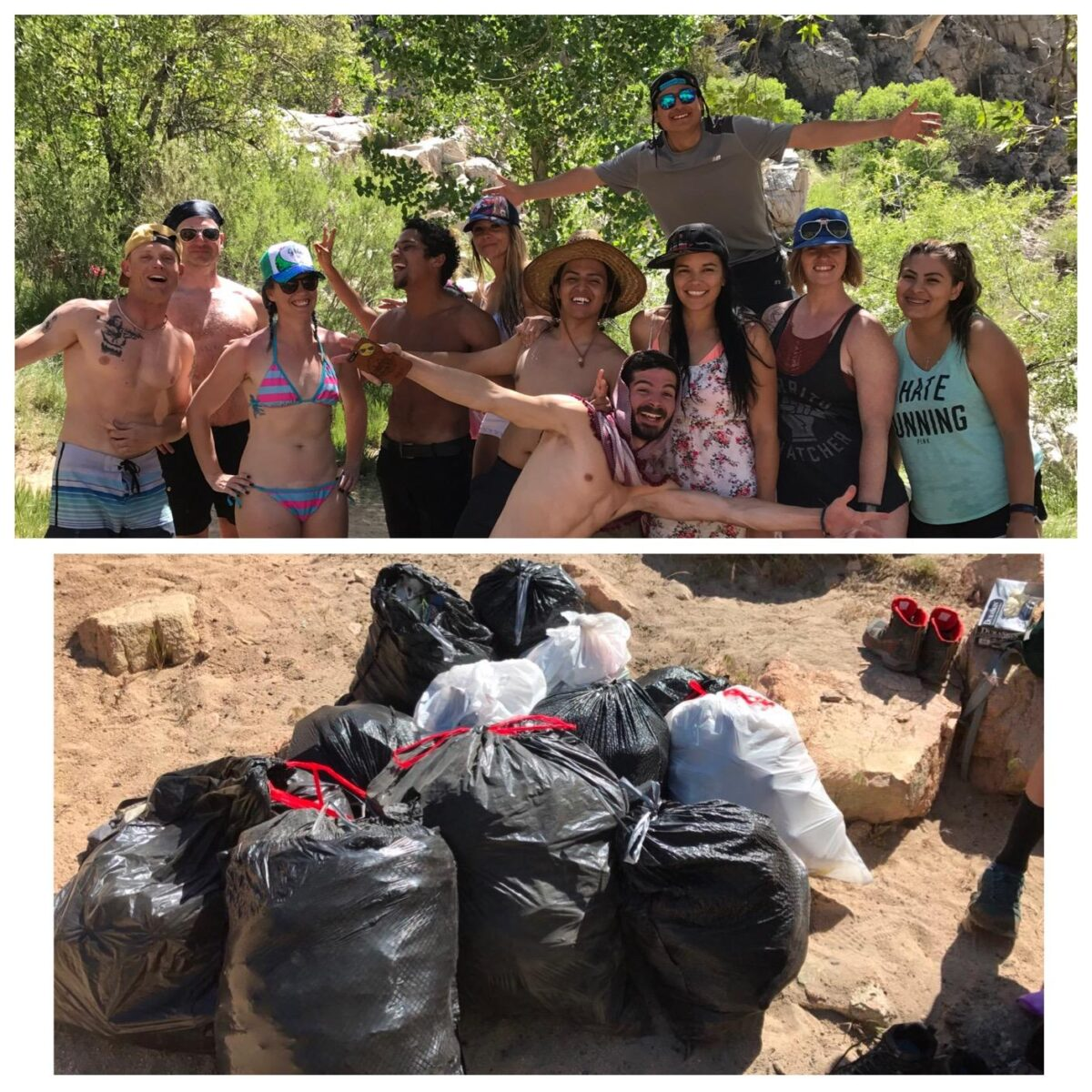 deep creek hot springs garbage cleanup