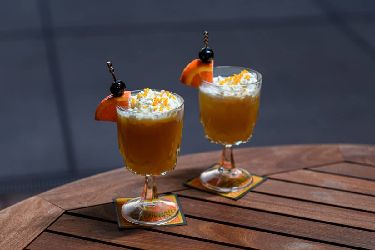 Orange Creamsicle Cocktail Recipe whipped cream