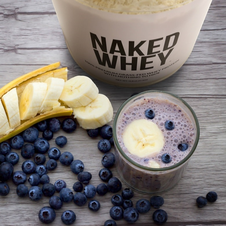 Revitalizing mango-berry protein smoothie