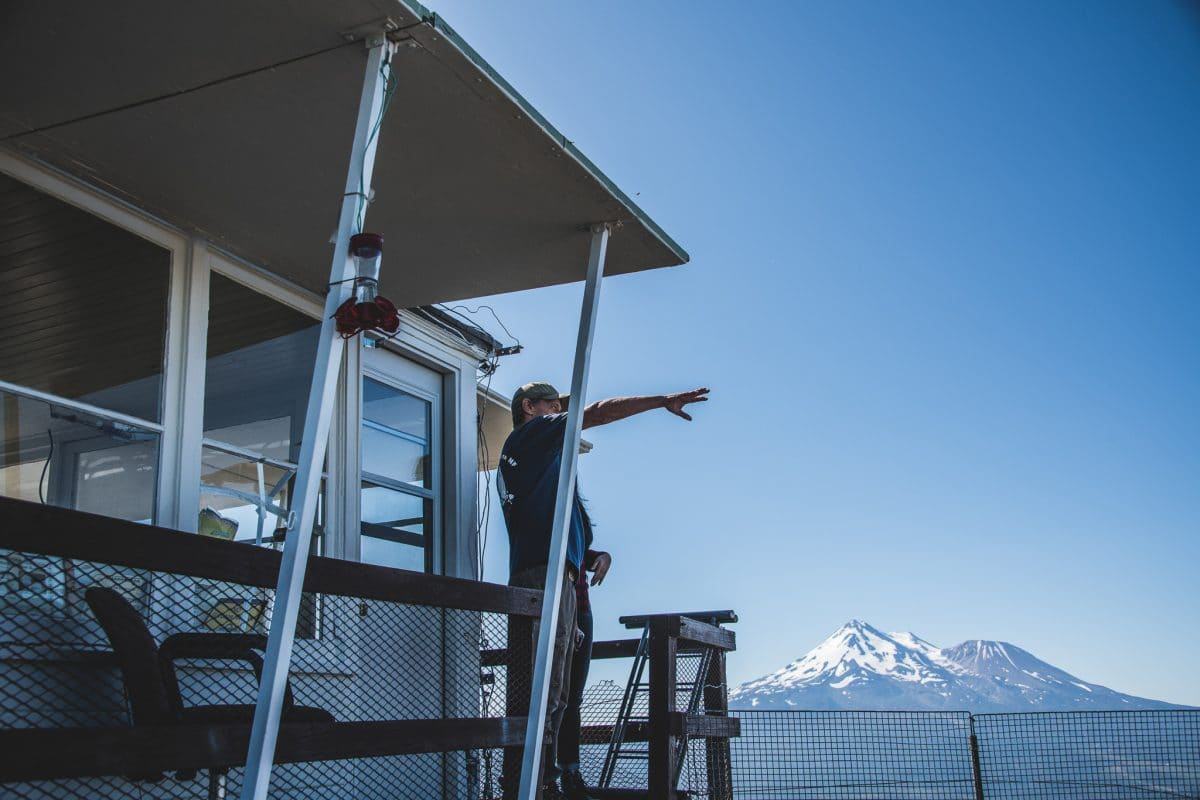 Through the eyes of a fire lookout 1 imagine waking up to a vast northern california landscape; sprawling forests and high-elevation shrubbery are dwarfed by the mighty white-tipped mount shasta in the distance. Now, imagine if it were your job to wake up to this view daily.
