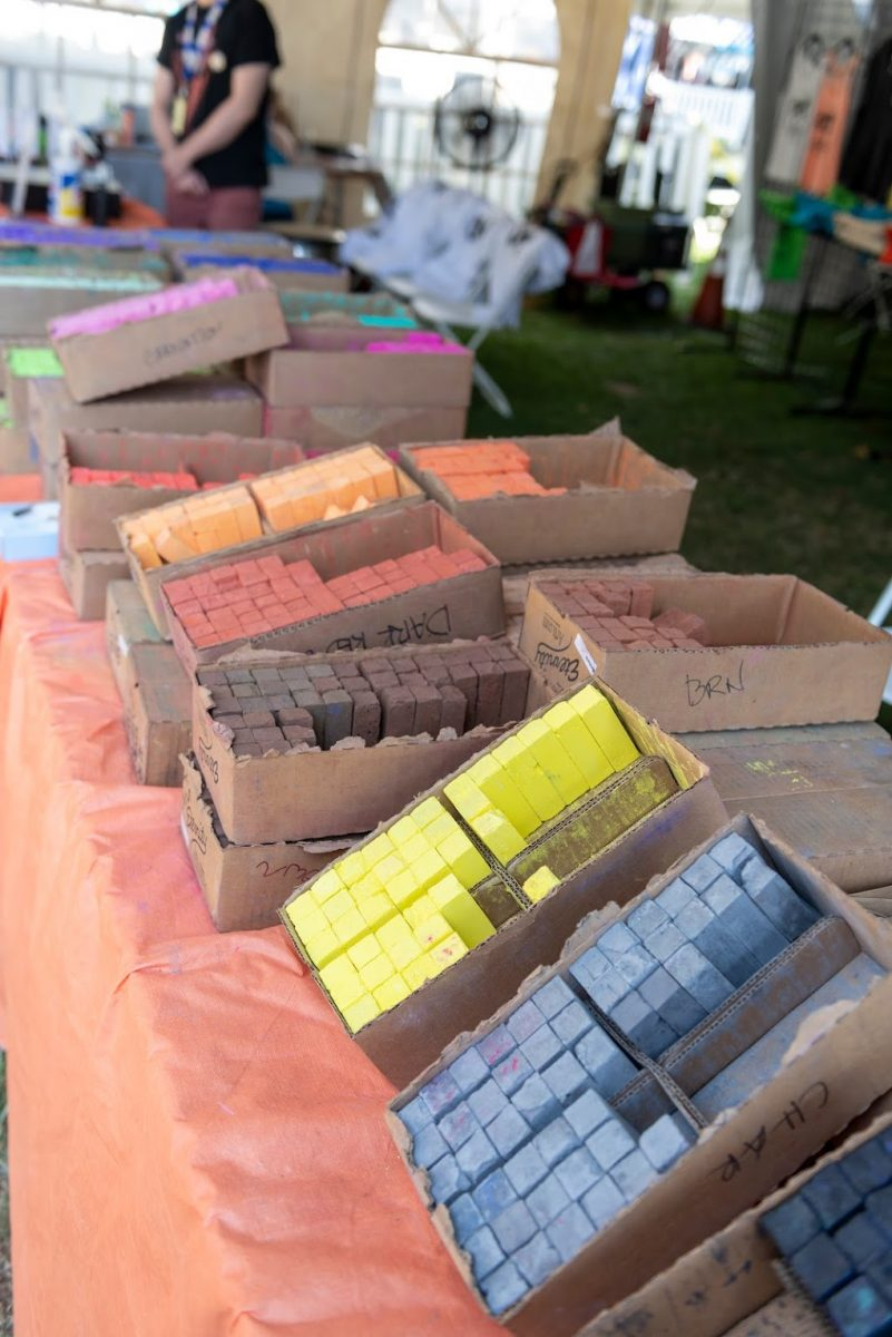 Chalk booth at chalk it up event